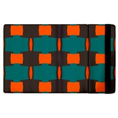 3 Colors Shapes Pattern                                                                                  			apple Ipad 3/4 Flip Case by LalyLauraFLM