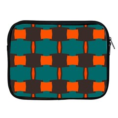 3 Colors Shapes Pattern                                                                                  			apple Ipad 2/3/4 Zipper Case by LalyLauraFLM