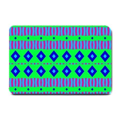 Rhombus And Stripes                                                                                   			small Doormat by LalyLauraFLM