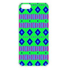 Rhombus And Stripes                                                                                   			apple Iphone 5 Seamless Case (white) by LalyLauraFLM