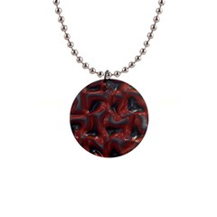 Red Grey 3d Design                                                                                    			1  Button Necklace by LalyLauraFLM