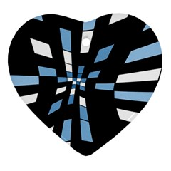 Blue Abstraction Ornament (heart)  by Valentinaart