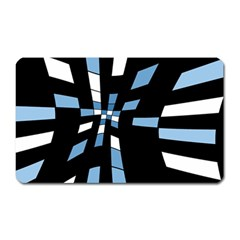 Blue Abstraction Magnet (rectangular) by Valentinaart