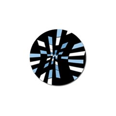 Blue Abstraction Golf Ball Marker by Valentinaart