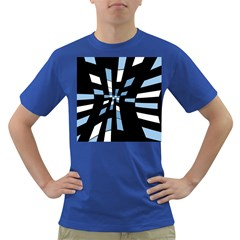Blue Abstraction Dark T-shirt by Valentinaart