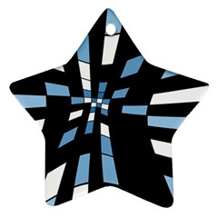 Blue Abstraction Star Ornament (two Sides)  by Valentinaart