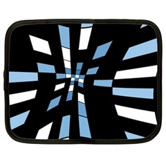 Blue Abstraction Netbook Case (xxl)  by Valentinaart
