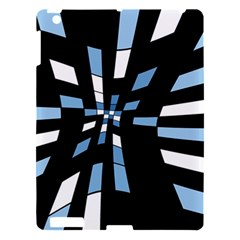 Blue Abstraction Apple Ipad 3/4 Hardshell Case by Valentinaart