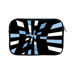 Blue Abstraction Apple Ipad Mini Zipper Cases by Valentinaart