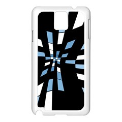 Blue Abstraction Samsung Galaxy Note 3 N9005 Case (white) by Valentinaart