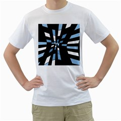 Blue Abstraction Men s T Shirt (white)  by Valentinaart