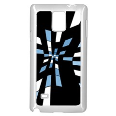 Blue Abstraction Samsung Galaxy Note 4 Case (white) by Valentinaart