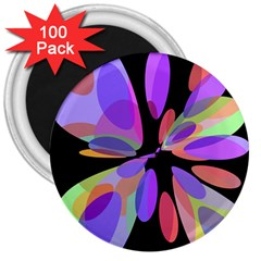 Colorful Abstract Flower 3  Magnets (100 Pack) by Valentinaart