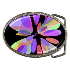 Colorful Abstract Flower Belt Buckles by Valentinaart