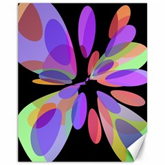 Colorful Abstract Flower Canvas 11  X 14   by Valentinaart