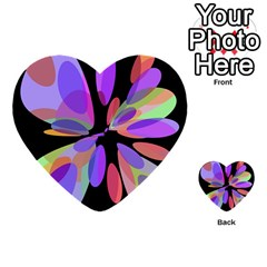 Colorful Abstract Flower Multi Purpose Cards (heart)  by Valentinaart