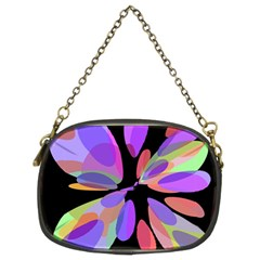 Colorful Abstract Flower Chain Purses (two Sides)  by Valentinaart