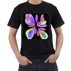 Colorful Abstract Flower Men s T-shirt (black) by Valentinaart
