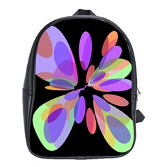 Colorful Abstract Flower School Bags(large)  by Valentinaart