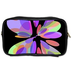 Colorful Abstract Flower Toiletries Bags by Valentinaart