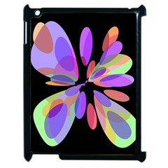 Colorful Abstract Flower Apple Ipad 2 Case (black) by Valentinaart