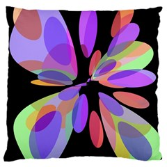 Colorful Abstract Flower Large Cushion Case (one Side) by Valentinaart