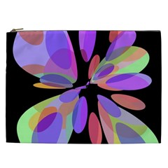 Colorful Abstract Flower Cosmetic Bag (xxl)  by Valentinaart