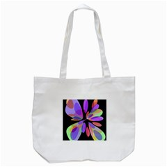 Colorful Abstract Flower Tote Bag (white) by Valentinaart