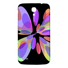 Colorful Abstract Flower Samsung Galaxy Mega I9200 Hardshell Back Case by Valentinaart