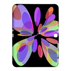 Colorful Abstract Flower Samsung Galaxy Tab 4 (10 1 ) Hardshell Case  by Valentinaart