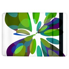 Green Abstract Flower Ipad Air Flip by Valentinaart