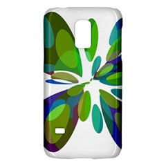 Green Abstract Flower Galaxy S5 Mini by Valentinaart