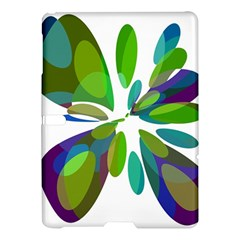 Green Abstract Flower Samsung Galaxy Tab S (10 5 ) Hardshell Case  by Valentinaart