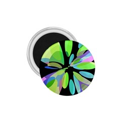 Green Abstract Flower 1 75  Magnets by Valentinaart