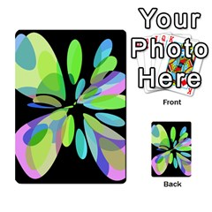 Green Abstract Flower Multi Purpose Cards (rectangle)  by Valentinaart