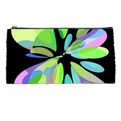 Green Abstract Flower Pencil Cases by Valentinaart