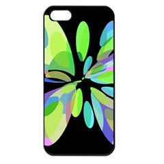 Green Abstract Flower Apple Iphone 5 Seamless Case (black) by Valentinaart