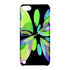 Green Abstract Flower Apple Ipod Touch 5 Hardshell Case With Stand by Valentinaart