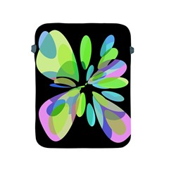 Green Abstract Flower Apple Ipad 2/3/4 Protective Soft Cases by Valentinaart
