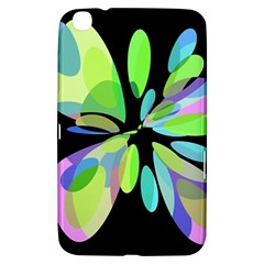 Green Abstract Flower Samsung Galaxy Tab 3 (8 ) T3100 Hardshell Case  by Valentinaart