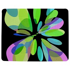 Green Abstract Flower Jigsaw Puzzle Photo Stand (rectangular) by Valentinaart