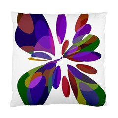 Colorful Abstract Flower Standard Cushion Case (two Sides) by Valentinaart