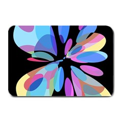 Blue Abstract Flower Plate Mats by Valentinaart