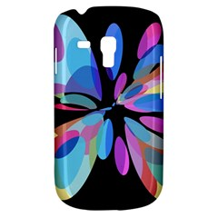 Blue Abstract Flower Samsung Galaxy S3 Mini I8190 Hardshell Case by Valentinaart