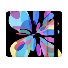 Blue Abstract Flower Samsung Galaxy Tab Pro 8 4  Flip Case by Valentinaart