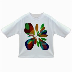 Colorful Abstract Flower Infant/toddler T Shirts by Valentinaart