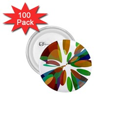 Colorful Abstract Flower 1 75  Buttons (100 Pack)  by Valentinaart
