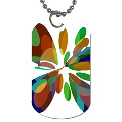 Colorful Abstract Flower Dog Tag (one Side) by Valentinaart