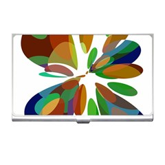 Colorful Abstract Flower Business Card Holders by Valentinaart