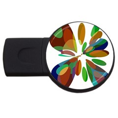 Colorful Abstract Flower Usb Flash Drive Round (2 Gb)  by Valentinaart